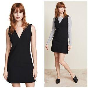 NEW Theory Tech easy v neck shift dress